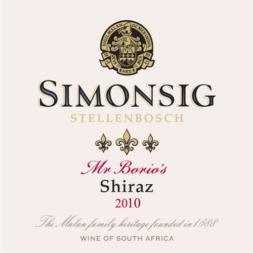 Simonsig Mr Borio's Shiraz 2015